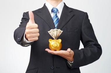 ビジネスボディパーツ貯金イメージグッドサイン
