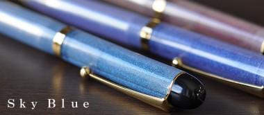 大西製作所 ボールペン セルロイド 透明のプラネタリウム スカイブルー