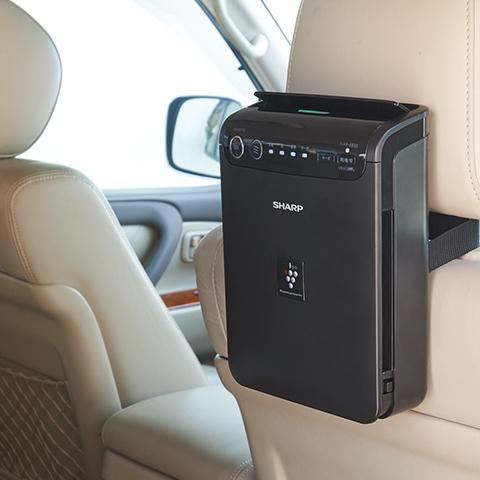 集塵効果もある最新の車用空気清浄機です