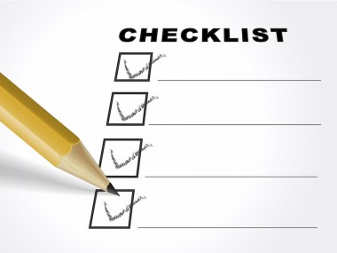 tick placed in check box with pencil over check list