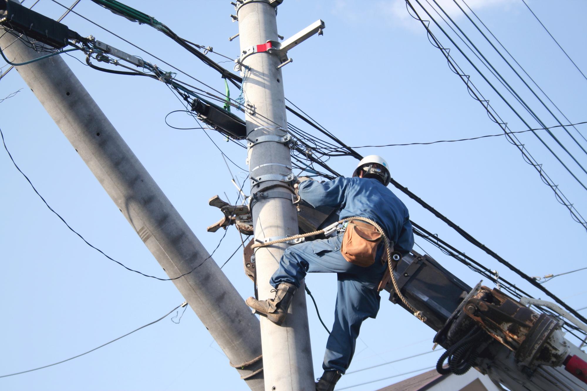 電力会社を切り替えていても、災害時の復旧対応は不利なく、平等に行われます。
