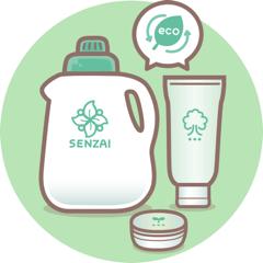 買い物の際は、詰め替え商品など容器包装の少ないものや環境汚染の少ない商品を選んでいる