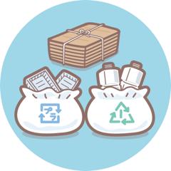 ゴミの分別やリサイクル、食品・生活用品は必要な分だけ買うなど資源の有効活用を心がけている
