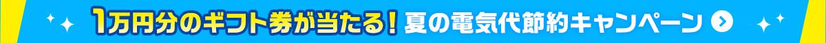 1万円分のギフト券が当たる!夏の電気代節約キャンペーン