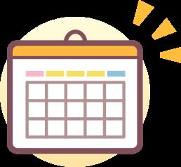 カレンダーのシンボル